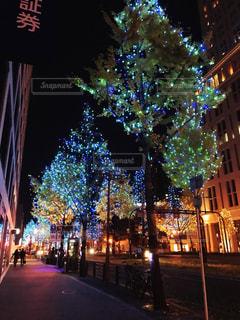 夜の市街地の眺めの写真・画像素材[2716690]