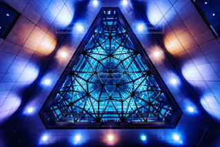 クロック タワーは夜ライトアップの写真・画像素材[915762]