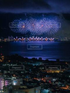諏訪湖花火の写真・画像素材[1450908]