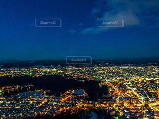 冬の函館の夜景の写真・画像素材[1809244]