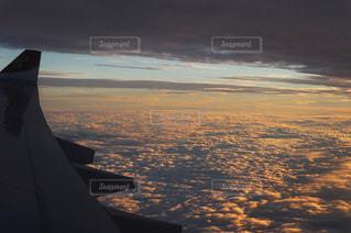 雲,飛行機,アジア,オレンジ,旅行,旅,雲海,夕陽,橙,週末旅