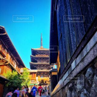 屋外,京都,観光地,五重塔,歴史,八坂の塔,法観寺