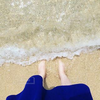 海,裸足,波打ち際,沖縄,浄化,波打際
