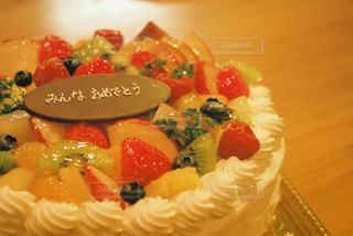特別なお祝いケーキの写真・画像素材[2446635]