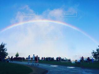 ナイアガラの虹の写真・画像素材[2509402]