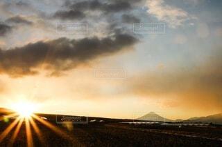 富士山,朝日,山,正月,お正月,日の出,新年,初日の出