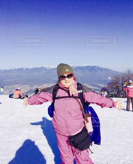 冬の八ヶ岳連峰が見えるの写真・画像素材[1795958]