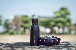 空,公園,カメラ,屋外,ベンチ,ボトル,フィルムカメラ,タケヤ,タケヤフラスクトラベラー