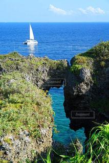 海,島,沖縄,旅行,万座毛