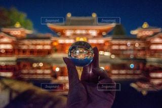 夜,夜景,京都,アート,ライトアップ,平等院,平等院鳳凰堂,水晶玉