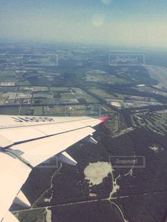 北海道の空の上からの写真・画像素材[891824]