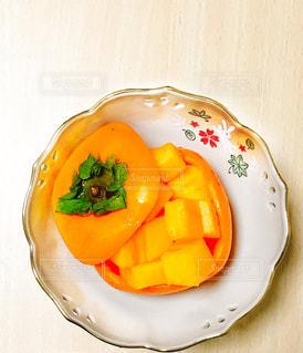 秋,フルーツ,果物,柿,飾り切り,おもてなし,秋の味覚,実りの秋,食欲の秋