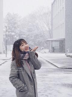 雪と大学生🌬💗の写真・画像素材[1038898]
