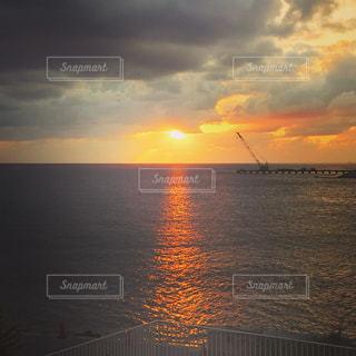 海,屋外,夕暮れ,沖縄,日差し,光,ウミカジテラス