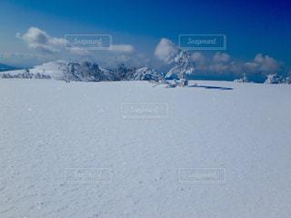 雪に覆われた斜面の写真・画像素材[899765]