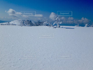 雪に覆われた斜面の写真・画像素材[927890]