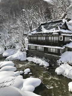 雪に覆われた家の写真・画像素材[994980]