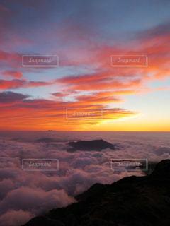 空,夕日,雲海,立山,室堂山