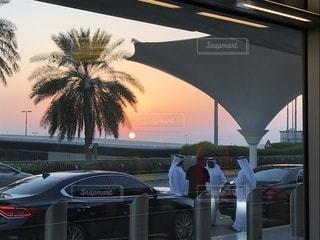 空,夕日,旅,アブダビ,UAE