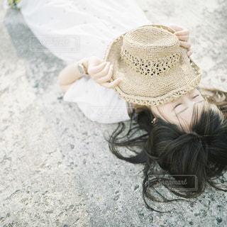 夏と帽子の写真・画像素材[2142124]