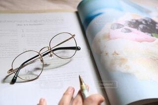 日々と眼鏡の写真・画像素材[3722518]