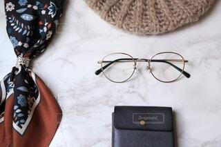 秋と眼鏡の写真・画像素材[3722530]