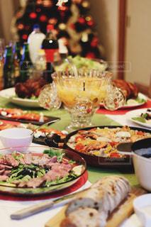 冬,カラフル,パン,オシャレ,キラキラ,クリスマス,パエリア,クリスマスツリー,ローストビーフ,フルーツポンチ