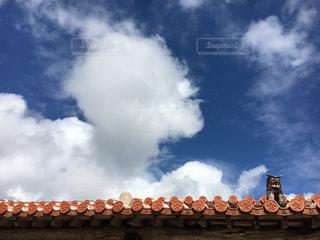 空,沖縄,屋根,旅行,シーサー,眺め