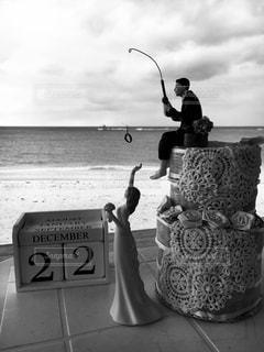 ウェディングケーキ風の写真・画像素材[907245]