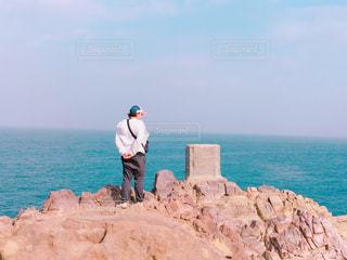 男性,自然,風景,海,空,後ろ姿,背中,人