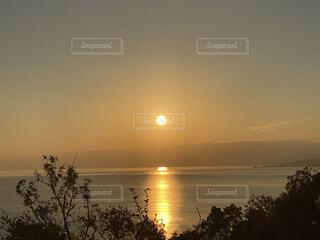 自然,風景,屋外,朝日,夕暮れ,水面,正月,お正月,日の出,新年,初日の出