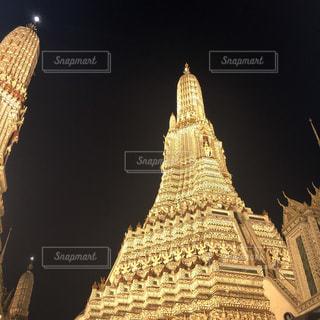 風景,夜,茶色,建築物,旅行,旅,タイ,ベージュ,歴史,フォトジェニック,タイ旅行,ミルクティー色