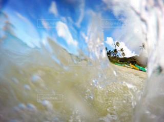 波間からの景色の写真・画像素材[934094]