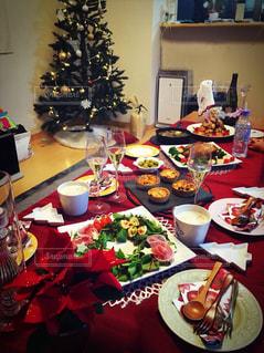 冬,クリスマス,ホームパーティー,テーブルコーデ,クリスマスパーティー