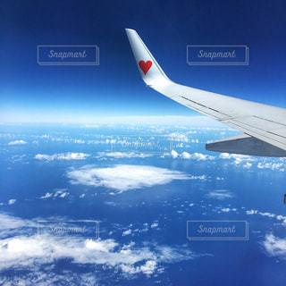 飛行機,ハート,旅行,海外旅行