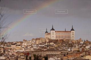 トレドにかかる虹。の写真・画像素材[939935]