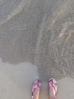 白い砂浜での写真・画像素材[900422]