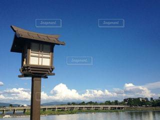 空,京都,青空,観光,嵐山,渡月橋,真夏,お盆