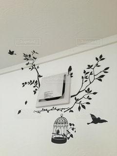 空を飛んでいる鳥の群れの写真・画像素材[1006685]