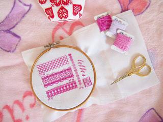 ピンク,家,ハンドメイド,趣味,クロスステッチ,刺繍,桃色