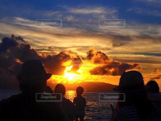 自然,空,夕暮れ,沖縄,人,旅行