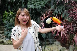 鳥,観光,人物,驚き,ビックリ,オオハシ,島根,びっくり,ビビリ,花鳥園,ビビる
