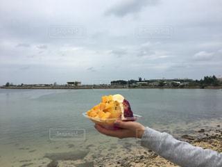 ビーチ,沖縄,かき氷