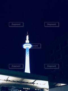 京都 タワー 夜