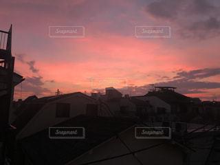 空,夕日,屋外,太陽,夕暮れ