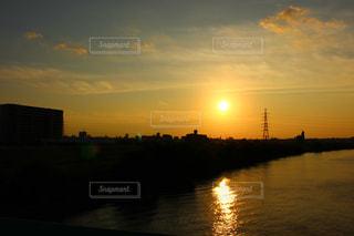 自然,風景,夕日,夕暮れ,川