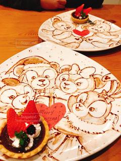 テーブル,クリスマス,レストラン,お洒落,お皿,ディズニー,duffy,チョコアート