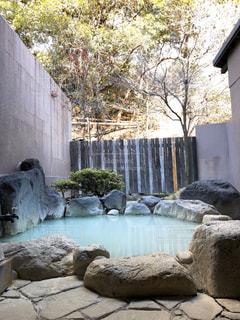 風景,温泉,のんびり,露天風呂,コバルトブルー,家族風呂,かけ流し温泉