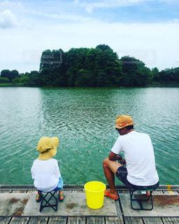 子ども,親子,池,釣り,こども,少年,男の子,父子,父,子,お父さん
