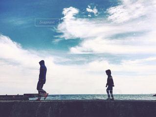 海,親子,こども,少年,男の子,父子,父,子,お父さん